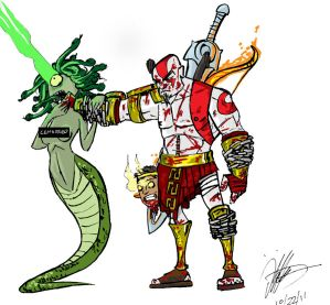 Kratos has Gorgon issues.