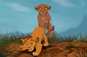 Playing Cubs by littlepolka