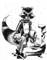 Rocket Raccoon by Inkpulp