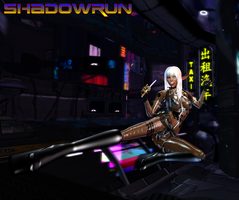 Flying Kick Elf - Shadowrun by Jace-Lethecus