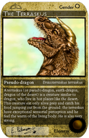 Trading card 3 - The Terraskus by FuriarossaAndMimma