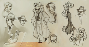 Film Noir Sketches by ancalinar