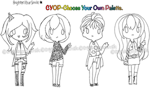 Adopt 6 CYOP Auction-Choose your own Palette CLOSE by BrightenYourSmile