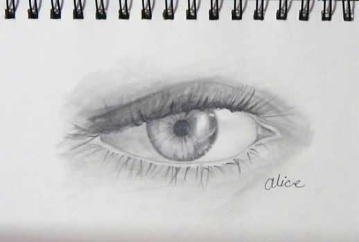 eye in graphite by AliceColours