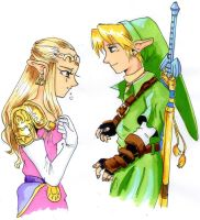 LINK AND ZELDA by KathyPhantomhive