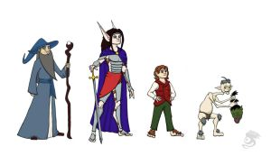 The Hobbit Character Lineup by Oddstuffs