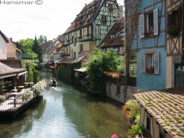 half timber houses on the canal by Hansmar