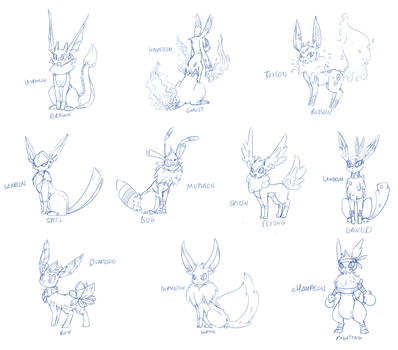 [CONCEPT] The Other Type Of Eeveelutions. by Wouhlven