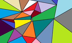 Abstract Art With Triangles by nightwingsgirl