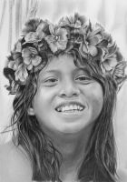 Pencil portrait of a Pareci girl by LateStarter63