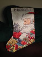 Santa/Kitty Christmas Stocking by inu-hugger
