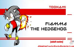 Fiamma The Hedgehog (Toonami Style) by CreativeArtist-Kenta