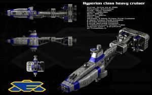 Hyperion class heavy cruiser by unusualsuspex