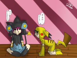 Alex and Jesse as Pokemans!~ by glowy-colors-lova-8D