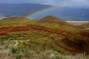 Rainbow and Painted Hills 2 by Polyrender
