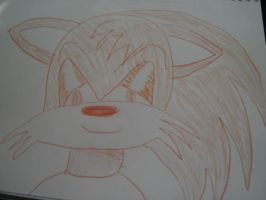 Some evil looking hedgehog by Rizzy-The-Awesome