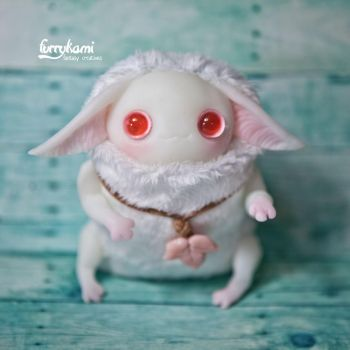 Albino creature by Furrykami by Furrykami-creatures