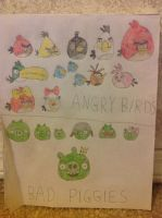 Angry Birds and the Bad Piggies by Prince5s