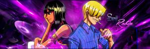 Sanji and Robin Signature by YinYangSplit
