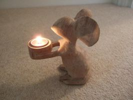 Simple mouse art/craft tea light by arbortechuser