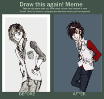 Before and After Meme by KanashimiBeast