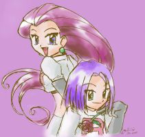 Jessie and James by jellyviolet
