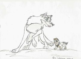 King and puppy Kitara by MortenEng21