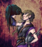 The Raven and the Valkyrie by fireilluminator