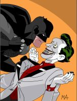Batman v Joker by BatmanDeadpool