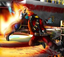 Team Fortress 2: Duel - Medic Versus Pyro by ewered