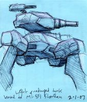 Quadruped Tank by thomastapir