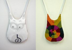 Ghost Rainbow Cat Bag by vannesdesigns