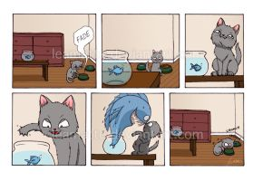 Comic - Don't try the fish by leamatte