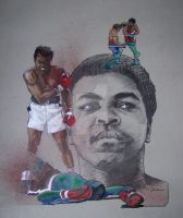 Cassius Clay - Muhammad Ali by JohnHaunLE
