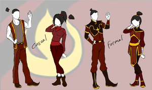 Mordern Fire Nation Style (For My Fanfiction) by DropDeadThenDance