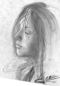 Silent Beauty SKETCH1 by the-author-s-realm