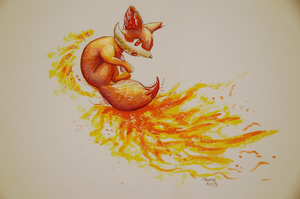 Fennekin by Dragoma