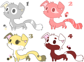 Creature Adoptable 1/4 OPEN 50 points/$.50 Paypal by GBEadoptables