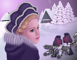 Snow Maiden. Russian folklore by lilok-lilok