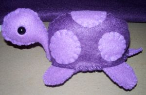 Purple Turtle Plushie by kiddomerriweather
