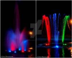 . Colorful fountains . by KimikoTakeshita