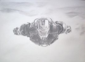 Iron Man Drawing by dudeman1990