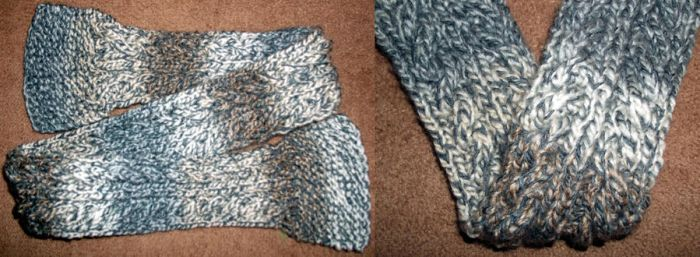 Reversible cable scarf by GRichmond