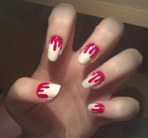 Blood...Jam...Nail Art by KaleidoscopeEyes97