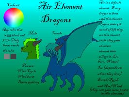 Element Dragons: Air by DragonThunderstorm