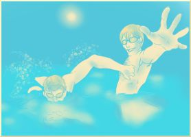 Hannibal palette challenge 31 - Swimming lesson by FuriarossaAndMimma