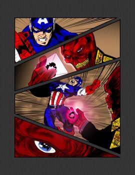Captain America vs Red Skull 2 by pascal-verhoef