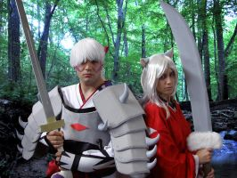 InuYasha and Inu Taisho by Emerald-Blue