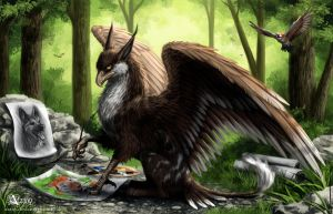 Forest artist by Azany
