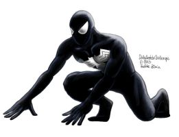 Daily Sketches Spiderman Black suit by fedde